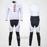 2012 Jersey Nalini Long Sleeve White And Black
