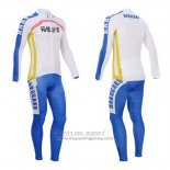 2014 Jersey Fox CyclingBox Long Sleeve White And Blue