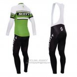 2014 Jersey Scott Long Sleeve Green And White