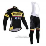 2015 Jersey Colombia Long Sleeve Black And Yellow