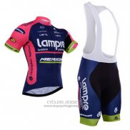 2015 Jersey Lampre Merida Pink And Blue