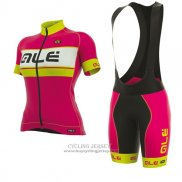2017 Jersey Women ALE Graphics Prr Bermuda Pink And Yellow