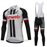 2018 Jersey Sunweb Long Sleeve Gray and Black