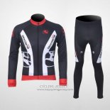 2011 Jersey Giordana Long Sleeve Red And Black