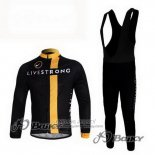 2011 Jersey Livestrong Long Sleeve Black And Yellow