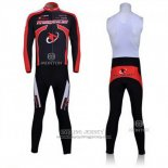 2011 Jersey Merida Long Sleeve Black And Red