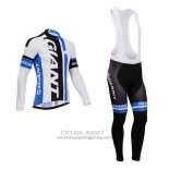 2014 Jersey Giant Long Sleeve White And Sky Blue