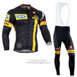 2014 Jersey MTN Long Sleeve Black And Yellow