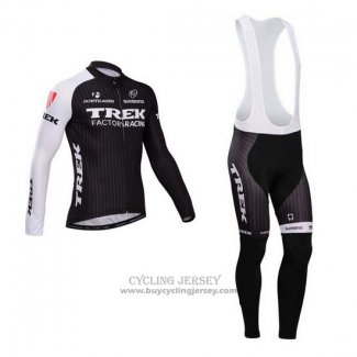 2014 Jersey Trek Factory Racing Long Sleeve Black And White