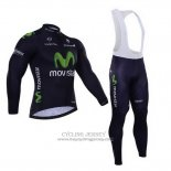2015 Jersey Movistar Long Sleeve Black