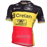 2016 Jersey Crelan AA Black And Yellow