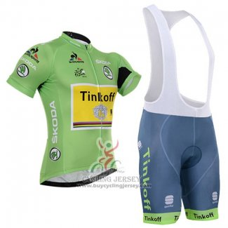 2016 Jersey Tinkoff Lider Green And Black
