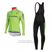 2017 Jersey Cannondale Long Sleeve Green