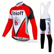 2017 Jersey Tinkoff Long Sleeve Red