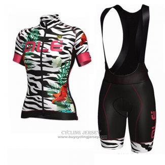 2017 Jersey Women ALE Flowers White And Black