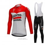 2018 Jersey Lotto Soudal Long Sleeve White and Red