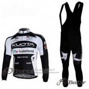 2010 Jersey Kuota Long Sleeve Black And White