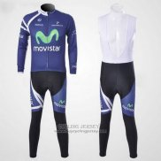2011 Jersey Movistar Long Sleeve Blue