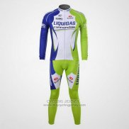 2012 Jersey Liquigas Cannondale Long Sleeve White And Green