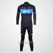 2012 Jersey Sky Long Sleeve Black And Sky Blue