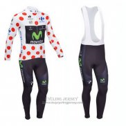 2013 Jersey Movistar Long Sleeve Lider White And Red