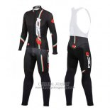 2014 Jersey Castelli Sidi Long Sleeve Black And Red