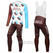 2016 Jersey Ag2rla Long Sleeve White And Marron