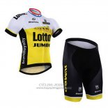 2016 Jersey Lotto NL Jumbo White And Yellow