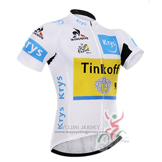 2016 Jersey Tinkoff Lider Yellow And White