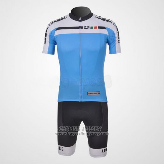 2011 Jersey Giordana White And Sky Blue