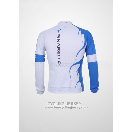 2011 Jersey Pinarello Long Sleeve Sky Blue And White