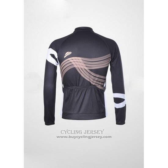 2012 Jersey Shimano Long Sleeve Black And Orange