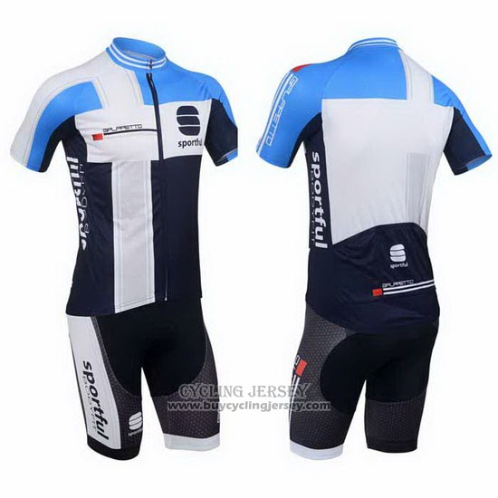 2013 Jersey Sportful White And Sky Blue