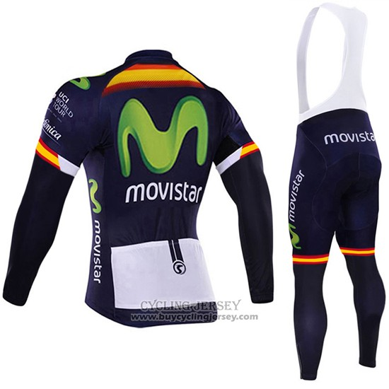 2017 Jersey Movistar Champion Spagna Long Sleeve