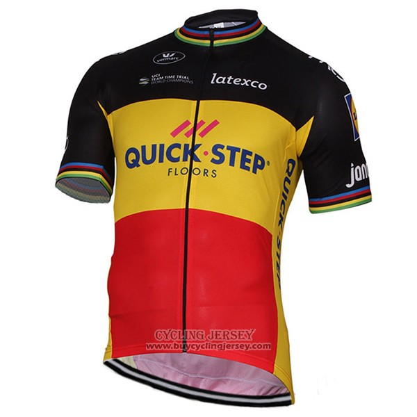 2017 Jersey Quick Step Champion Belgio