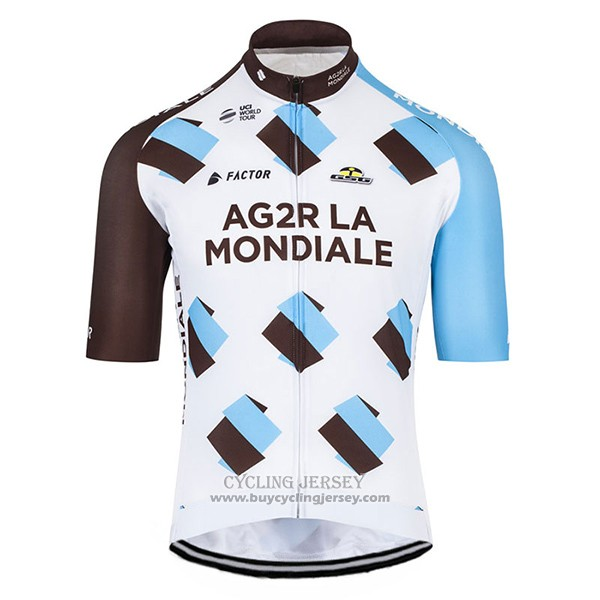 2017 Jersey Ag2r Marron And White