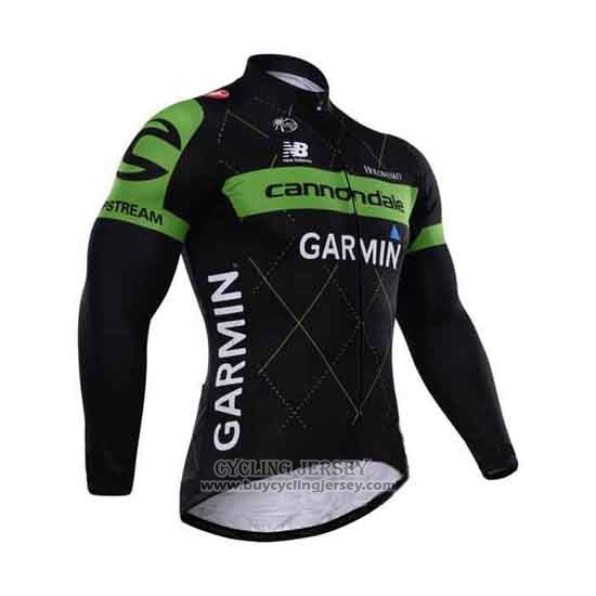 2015 Jersey Cannondale Long Sleeve Green And Black