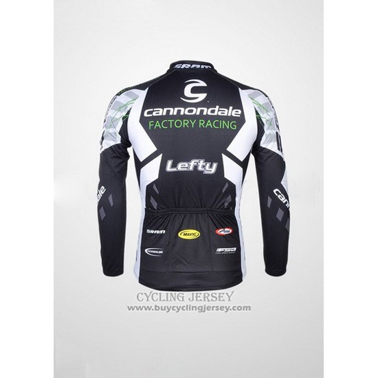 2012 Jersey Cannondale Long Sleeve Black And White