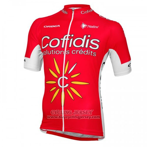 2016 Jersey Cofidis Red And White