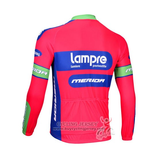 2012 Jersey Lampre Merida Long Sleeve Pink And Sky Blue