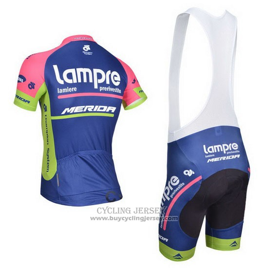 2014 Jersey Lampre Merida Pink And Blue