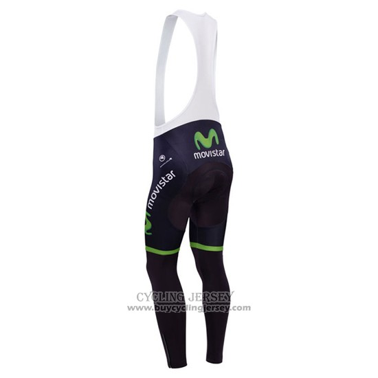 2014 Jersey Movistar Long Sleeve Black
