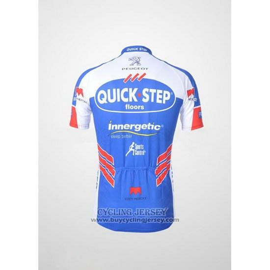 2011 Jersey Quick Step Floor White And Sky Blue