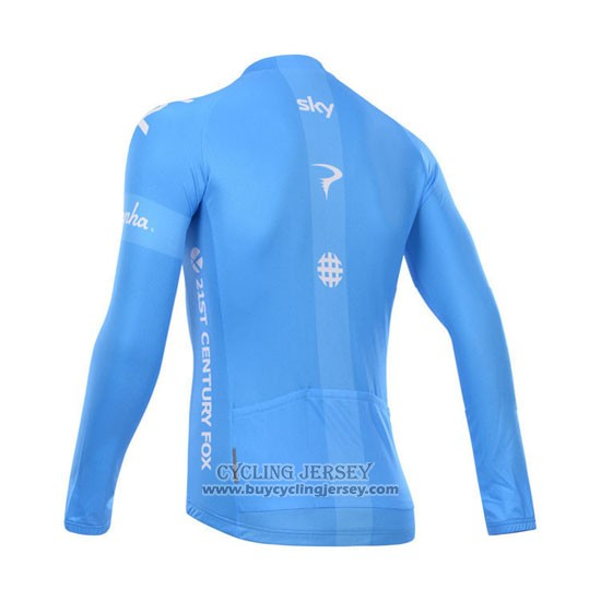 2014 Jersey Sky Long Sleeve White And Sky Blue