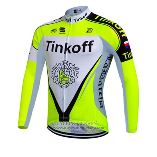 2016 Jersey Tinkoff Long Sleeve Green And White