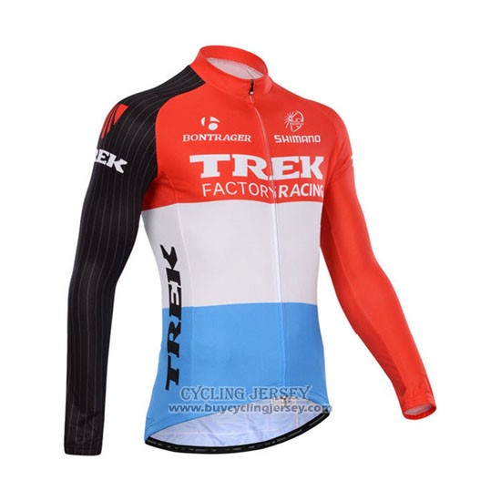 2014 Jersey Trek Factory Racing Long Sleeve Red And White