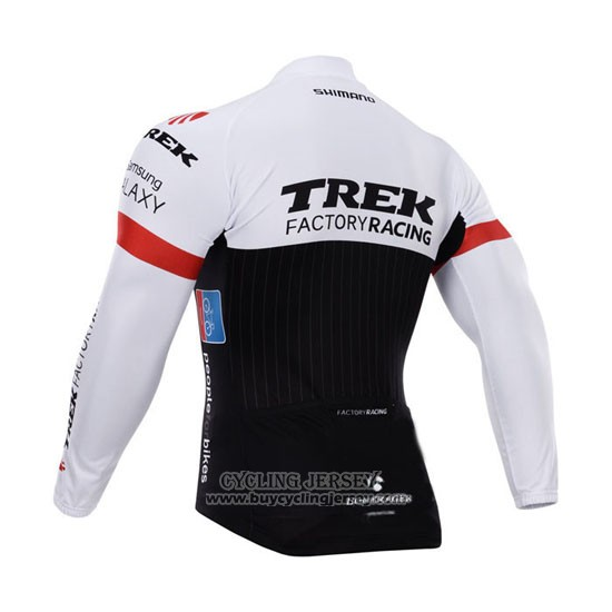 2015 Jersey Trek Factory Racing Factory Racing Long Sleeve White And Black