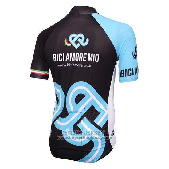 2016 Jersey Bici Amore Mio Black And Blue