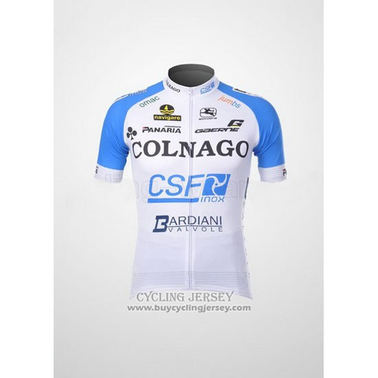 2012 Jersey Colnago Sky Blue And White