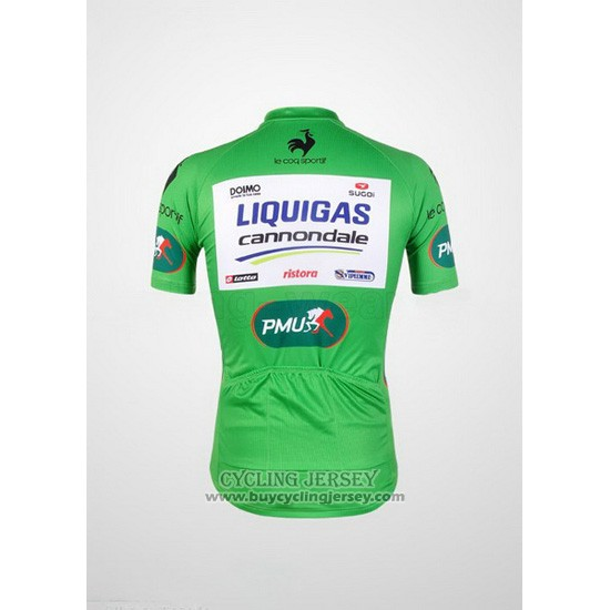 2012 Jersey Liquigas Cannondale White And Green
